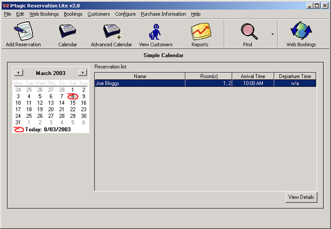 iMagic Reservation Lite Screenshot