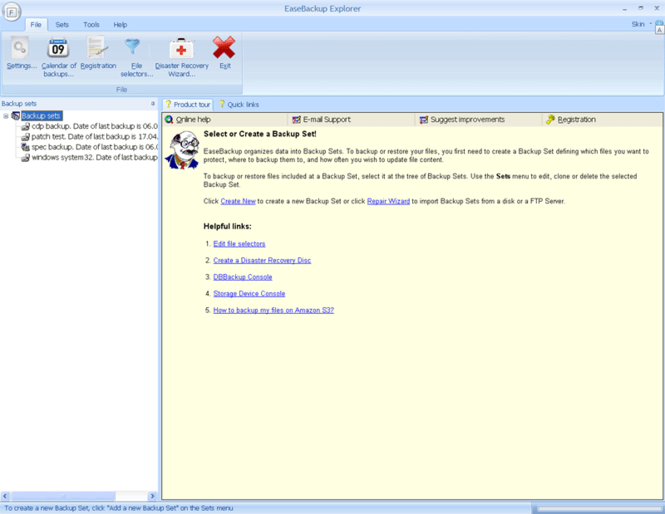 EaseBackup Screenshot