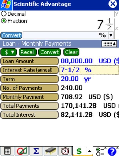 Scientific Advantage Calculator Combo Screenshot 1