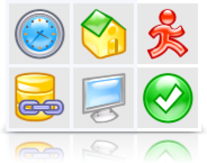 Aqua Icons (Pixel set) Screenshot