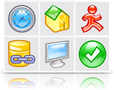 Aqua Icons (Pixel set) 1