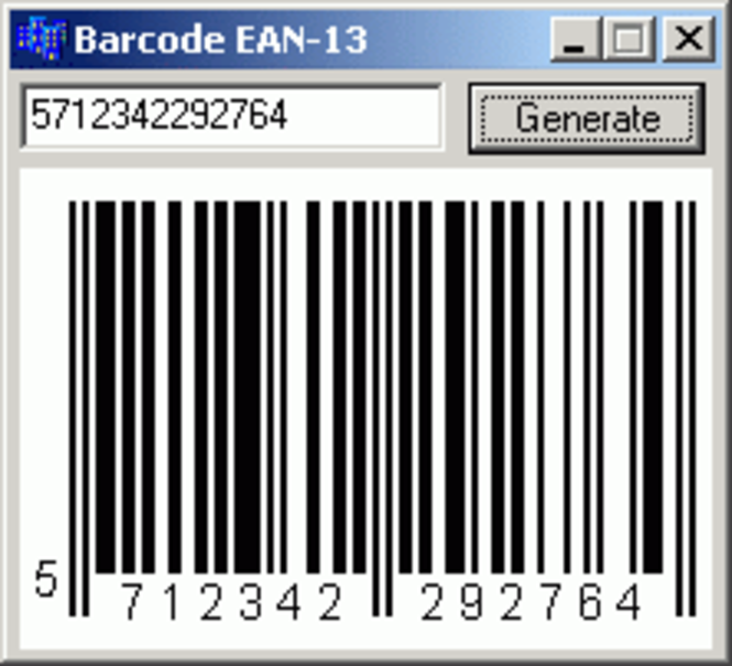 TBarcode component Screenshot 1