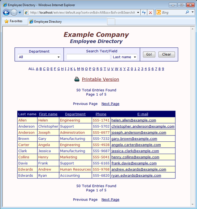 extVIEW Active Directory View/Search Screenshot 2