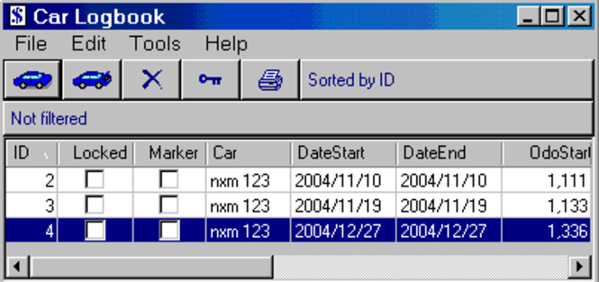 Car Logbook Screenshot 1