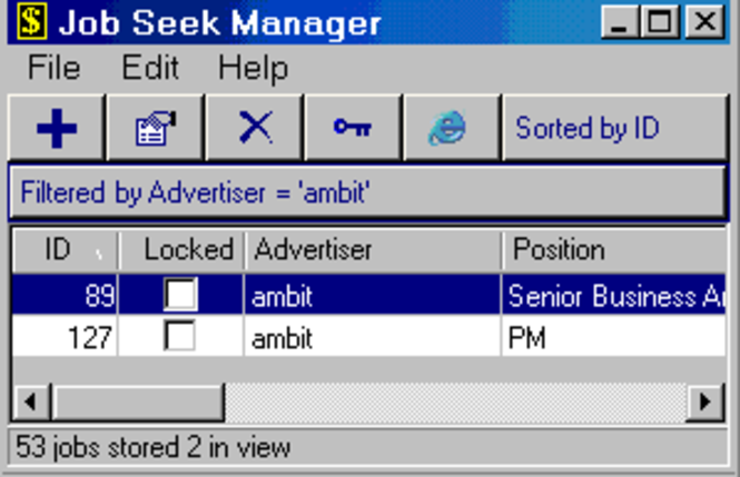 Job Seek Manager Screenshot