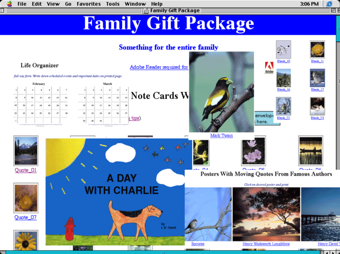 Family Gift Package Screenshot