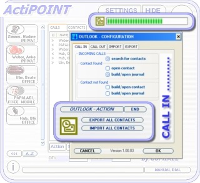 ActiPOINToutlookD Screenshot