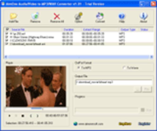 AimOne Audio/Video to MP3/WAV Converter Screenshot 1