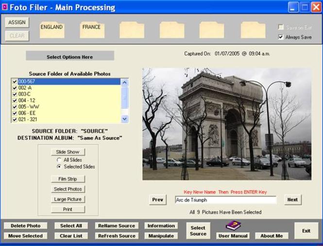Foto Filer Screenshot