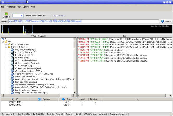 Personal File Server Screenshot