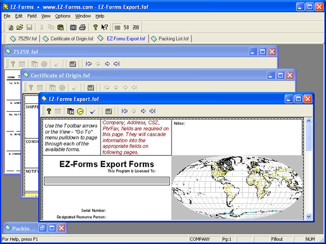 EZ-Forms-EXPORT Screenshot 1
