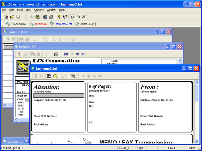EZ-Forms-DMX Viewer Screenshot