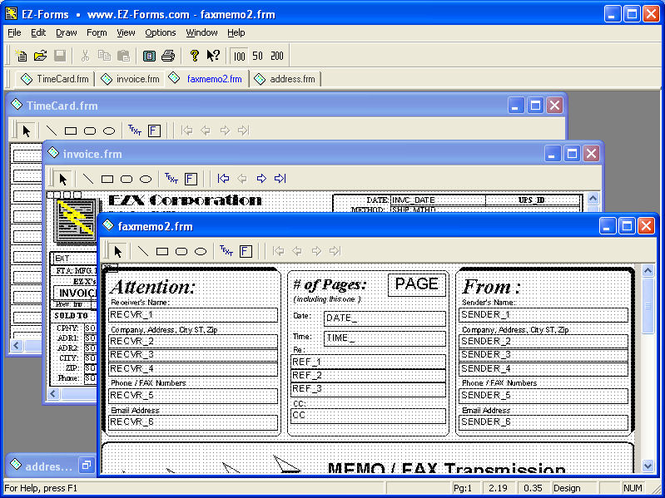 EZ-Forms Express Screenshot