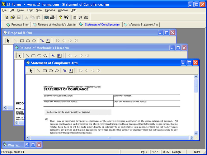 EZ-Forms-Contractor Screenshot 1