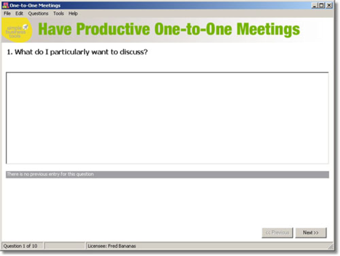 One-to-One Meetings Screenshot