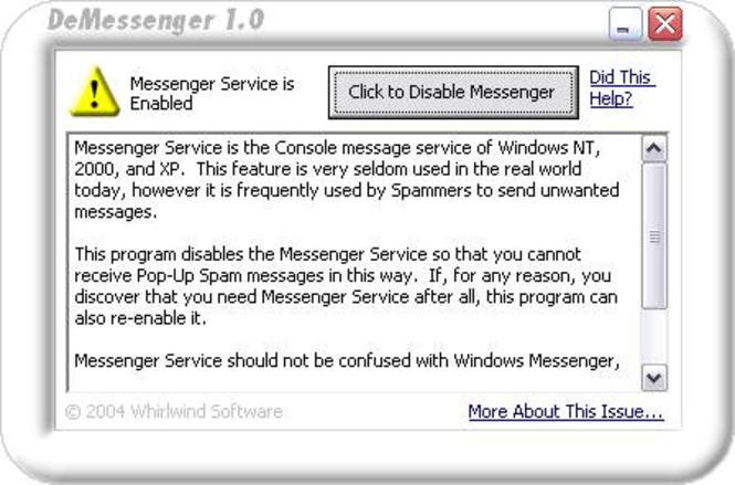 DeMessenger Screenshot