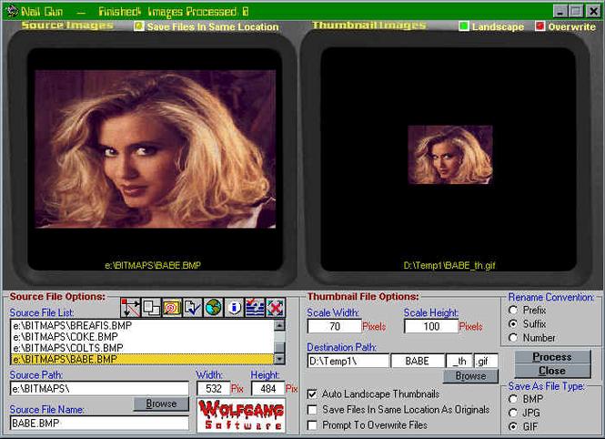 A Webmaster Thumbnail Cruncher Screenshot