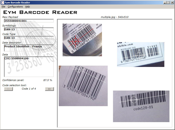 Eym Barcode Reader OCX Screenshot