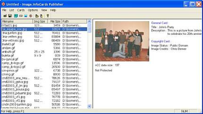 Image.InfoCards Publisher Professional Screenshot 1