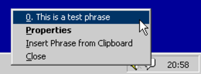 QuickPhrase Typing Tool Screenshot