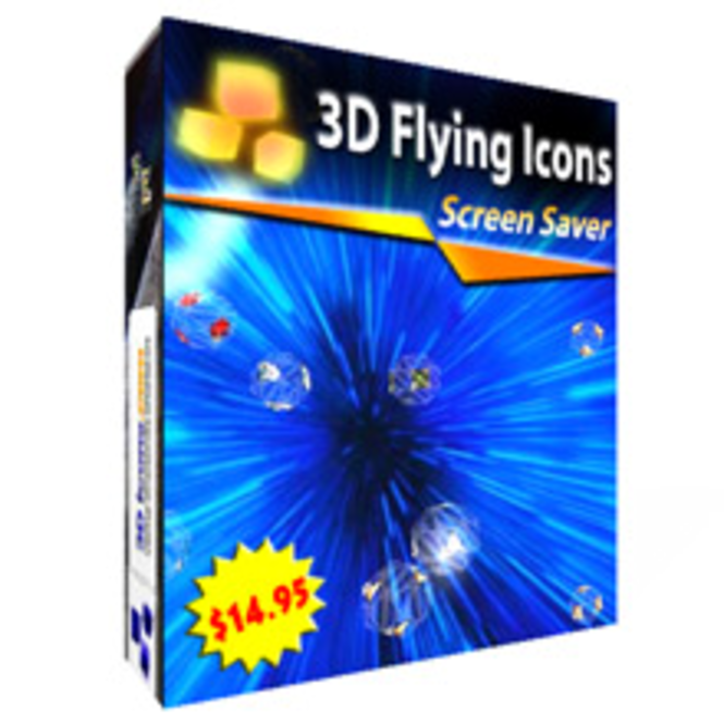 3D Flying Icons Screensaver Screenshot