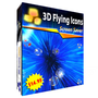 3D Flying Icons Screensaver 1