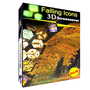 3D Falling Icons Screensaver 1