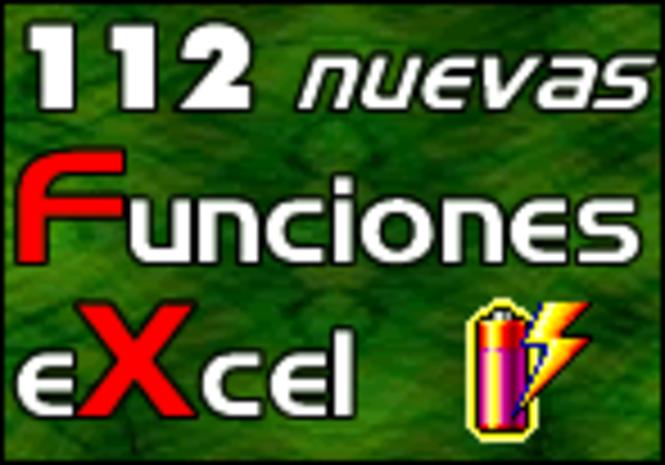 112 Nuevas Funciones Excel Screenshot