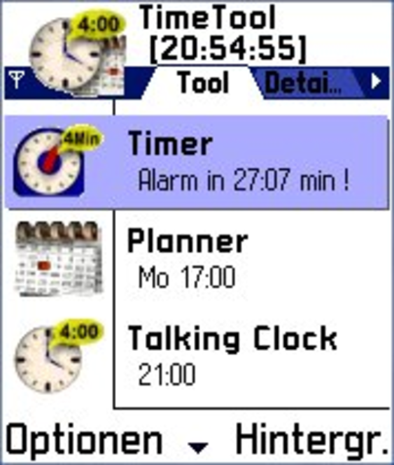 TimeTool f. Serie 60 Smartphones (Deutsche Version) Screenshot