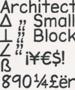 Architect Small Block PC TrueType Font 1