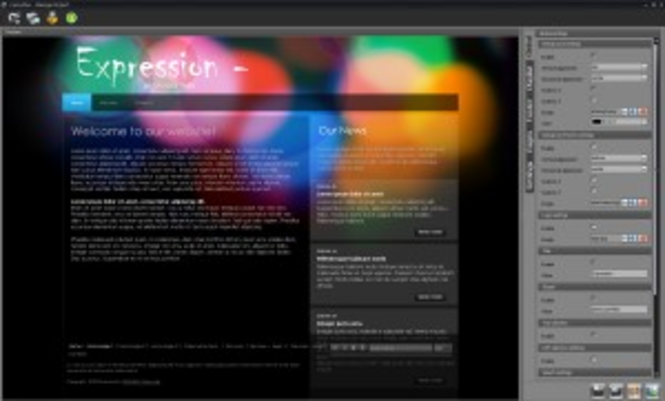 fancyPlus Flash Editor Screenshot