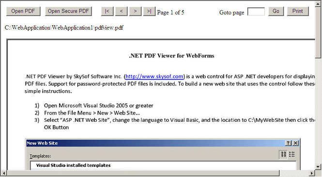 .NET PDF Viewer for WebForms Screenshot