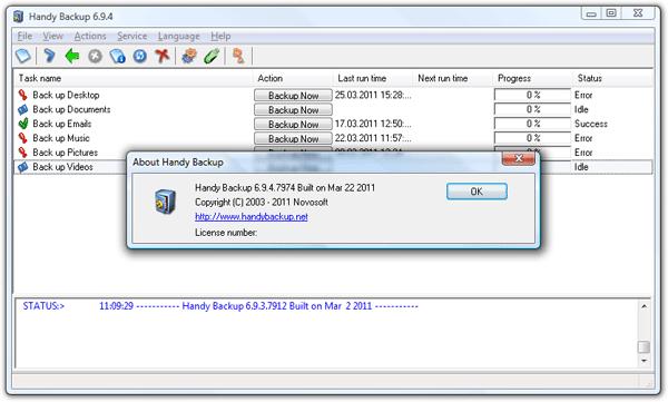 Handy Backup Standard Screenshot 2