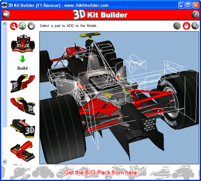 3D Kit Builder (F1 Racecar) Screenshot 1