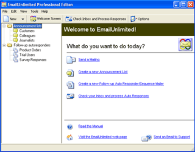 EmailUnlimited Free Edition Screenshot
