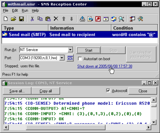 SMS Reception Center Screenshot 1