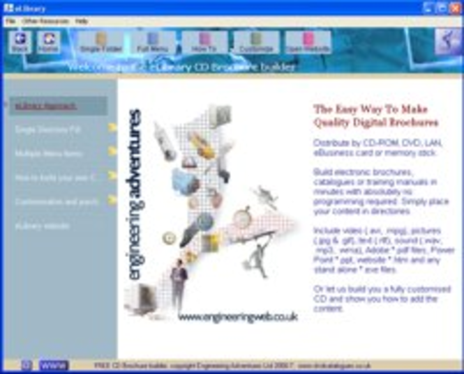 CD brochure builder Screenshot