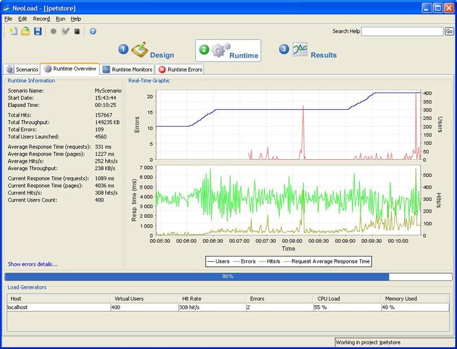 NeoLoad Screenshot 1