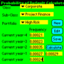 Probability of Default Calculator for Palm OS 1