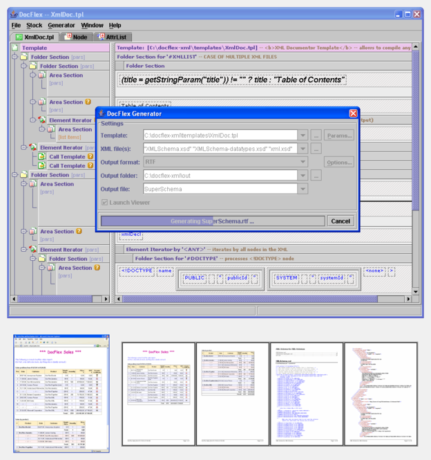 DocFlex/XML Screenshot