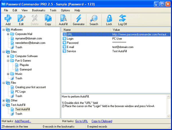 Password Commander Screenshot 3