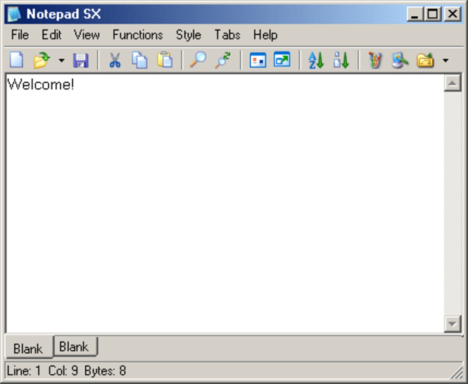NotePad SX Screenshot