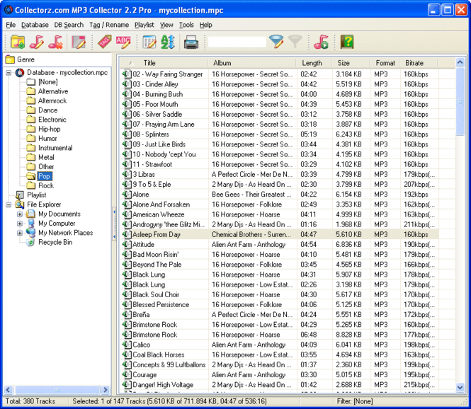 Collectorz.com MP3 Collector Screenshot