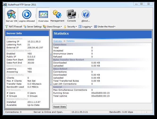 BulletProof FTP Server Screenshot 2
