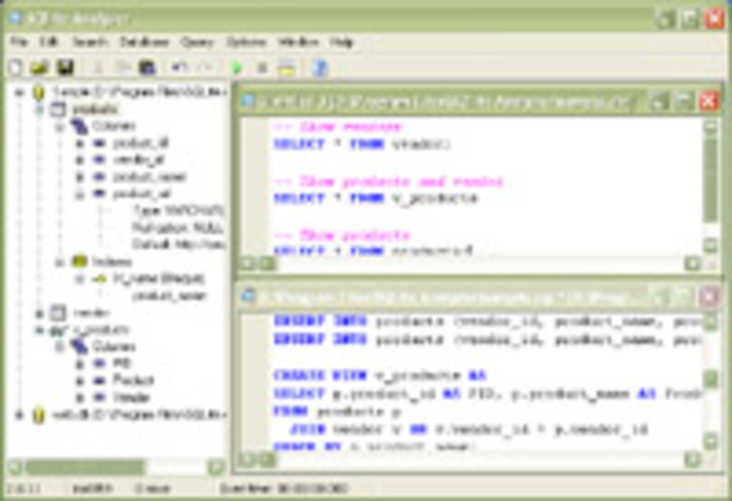 SQLite Analyzer Screenshot