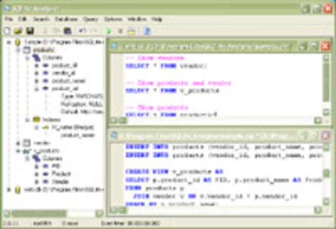 SQLite Analyzer Screenshot 1