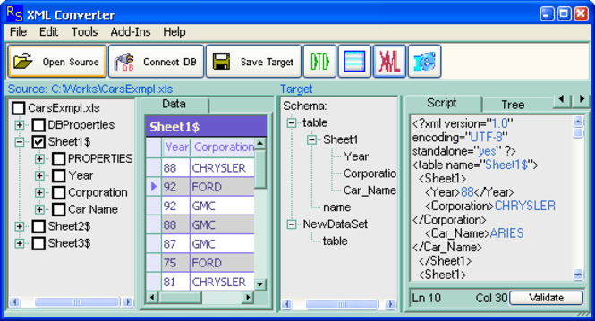 XML Converter Screenshot