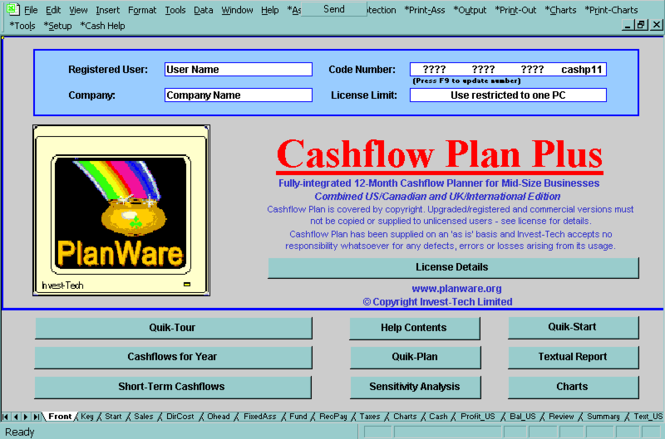Cashflow Plan Free Screenshot
