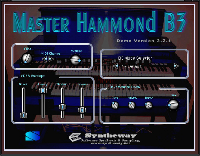 Master Hammond B3 VSTi Screenshot 1