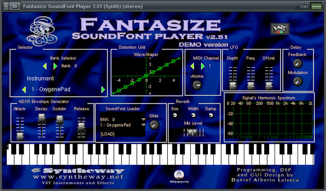 Fantasize Soundfont Player VSTi Screenshot 1